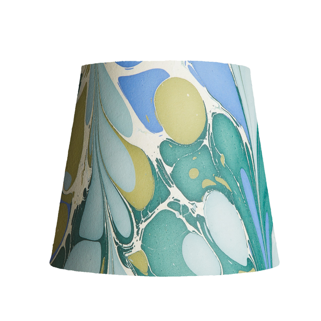 Pooky Tall Tapered Marbled Shade - Green/Blue Roya - 35cm