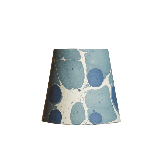 Pooky Tall Tapered Marbled Shade - Blue Sesia - 14cm