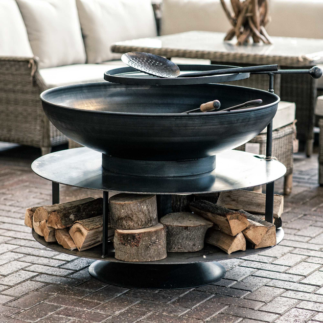 Fire Pit Ring of Logs