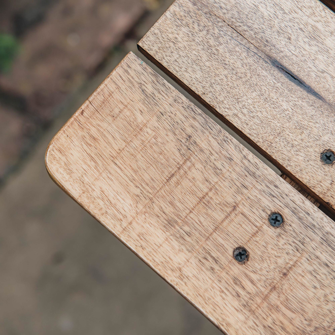 Mango Wood Café 2 Seater Table top detail