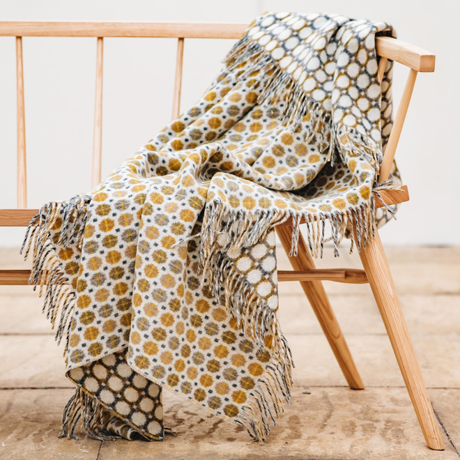 Milan Wool Throws Gold