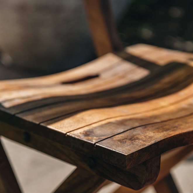 Mango Wood Café Chair detail