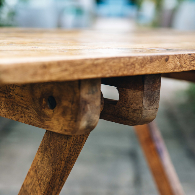 Mango Wood Café 2 Seater Table detail