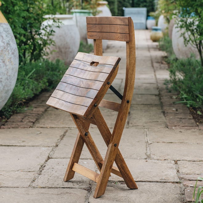 Mango Wood Café Chair partly folded