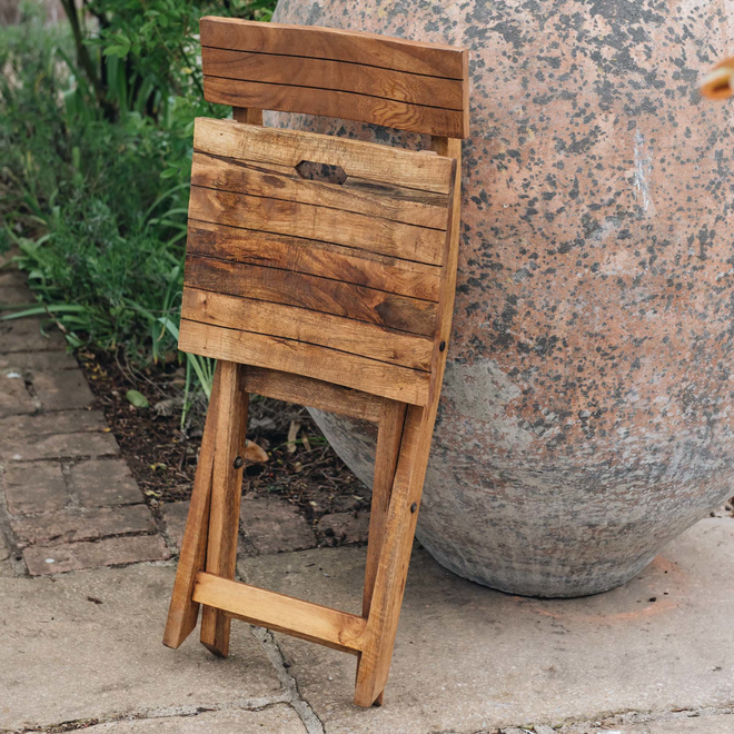 Mango Wood Café Chair folded