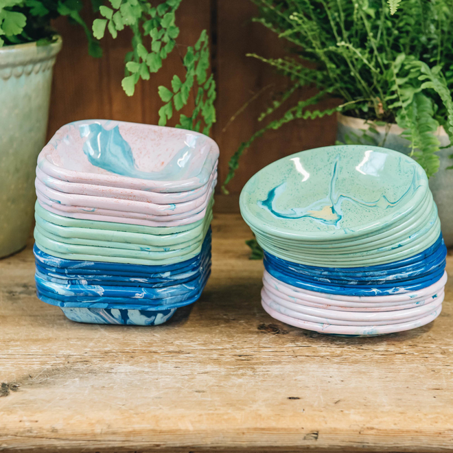 Marbled Enamel Small Plates