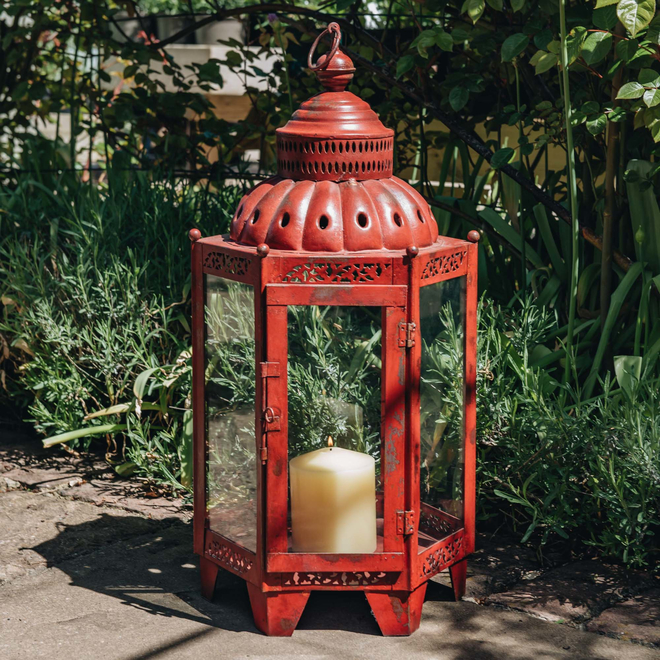 Moorish Lantern Red - Candle not included