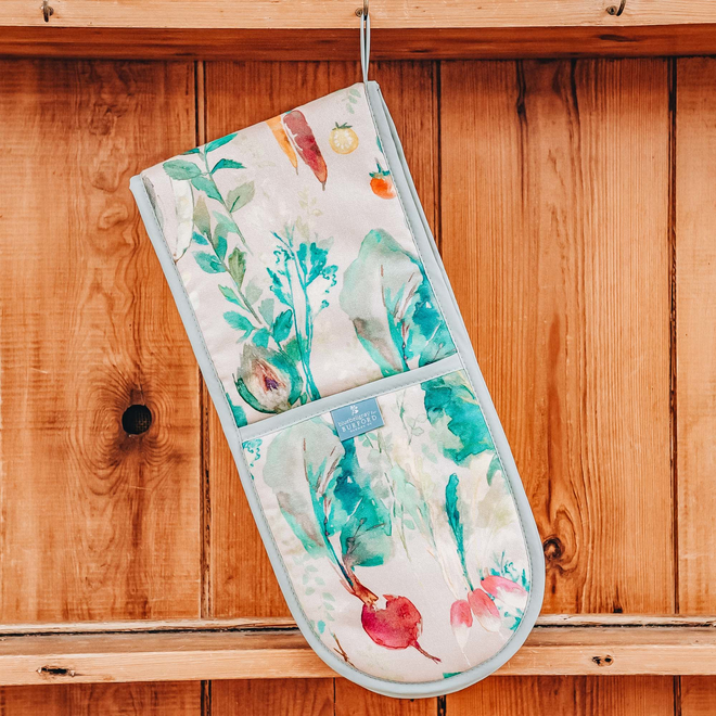 Bluebellgray for Burford Double Oven Glove Vegetable Patch Rosehip