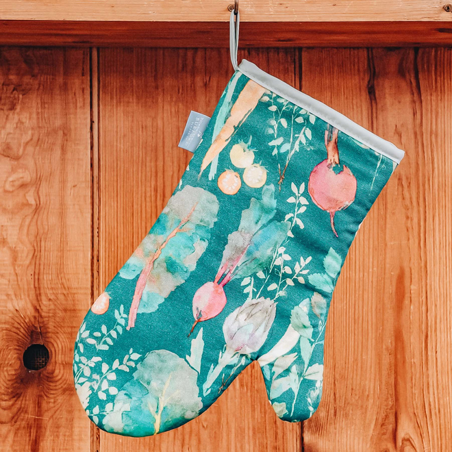 Bluebellgray for Burford Single Oven Glove Vegetable Patch Chard