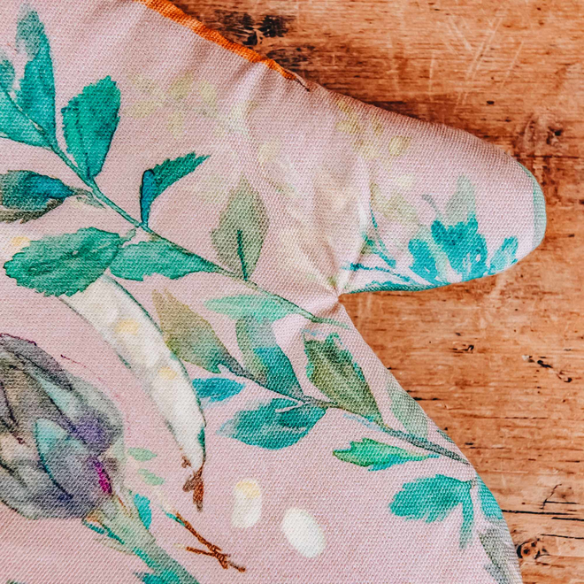 Bluebellgray for Burford Single Oven Glove Vegetable Patch Rosehip