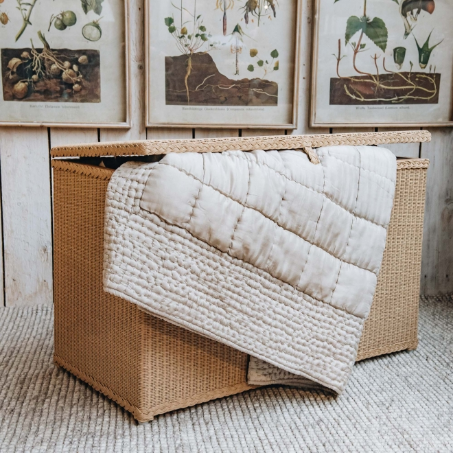 Lloyd Loom Blanket Box - Natural
