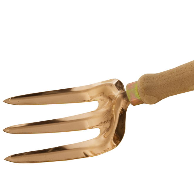 Vega Beech Handled Copper Hand Fork