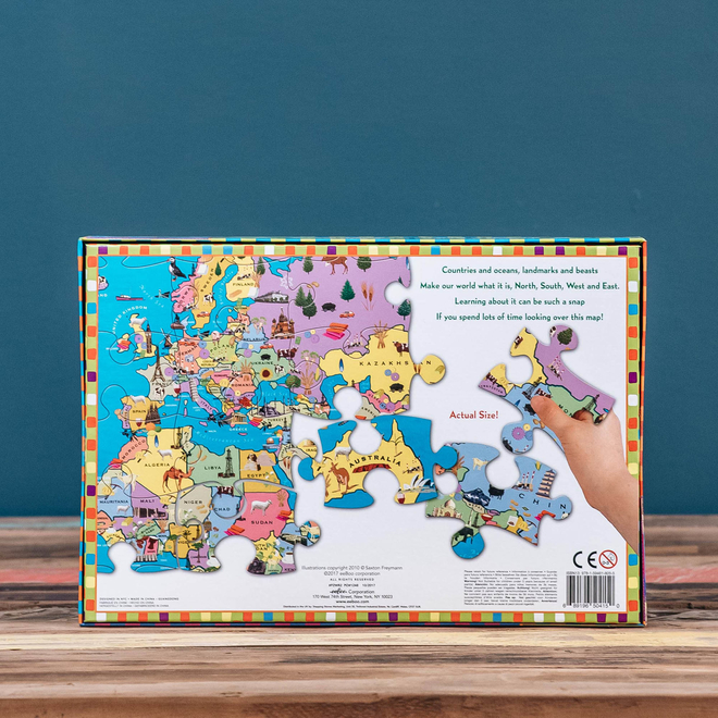 100 Piece Puzzle - Map of the world