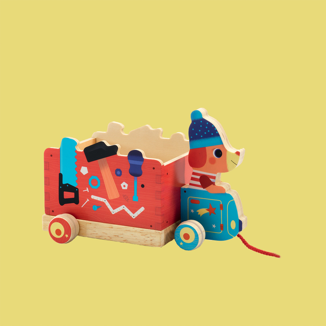 Jo Truck Pull Along Wooden Toy
