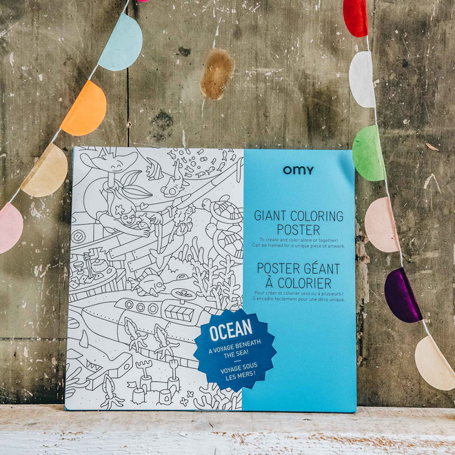 OMY Colouring Posters Ocean