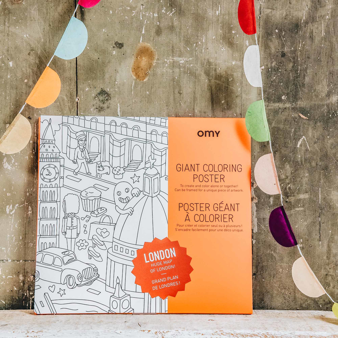 OMY Colouring Posters London