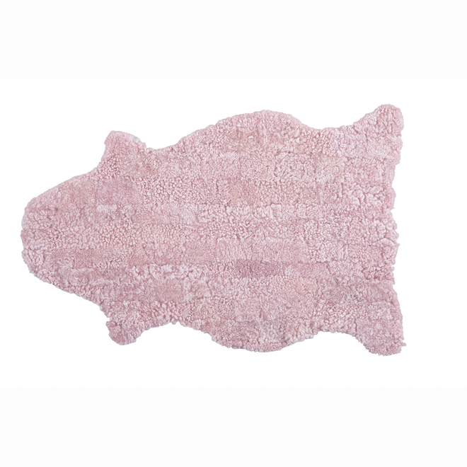 Gry Patchwork Shorthaired Sheepskin Rug Pink