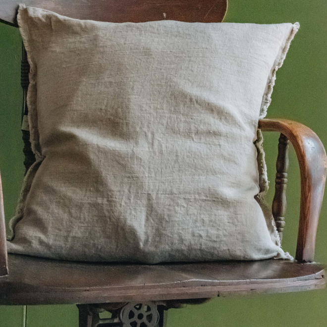 Sunshine Linen Cushion, Natural