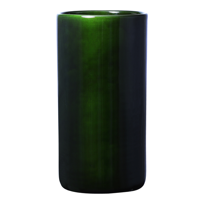 Emerald Green Glazed Oak Vase