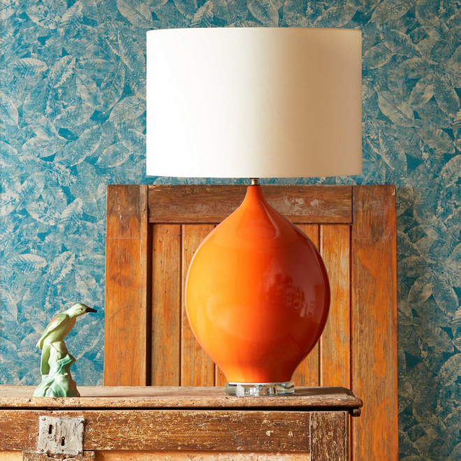 Pooky Kilda Table Lamp in Orange (shade not included)