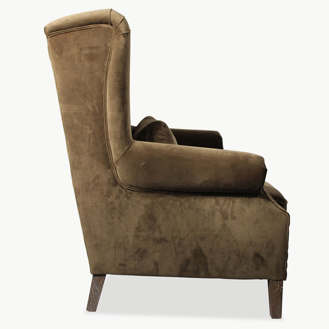 Velvet Wide Armchair Dark Green