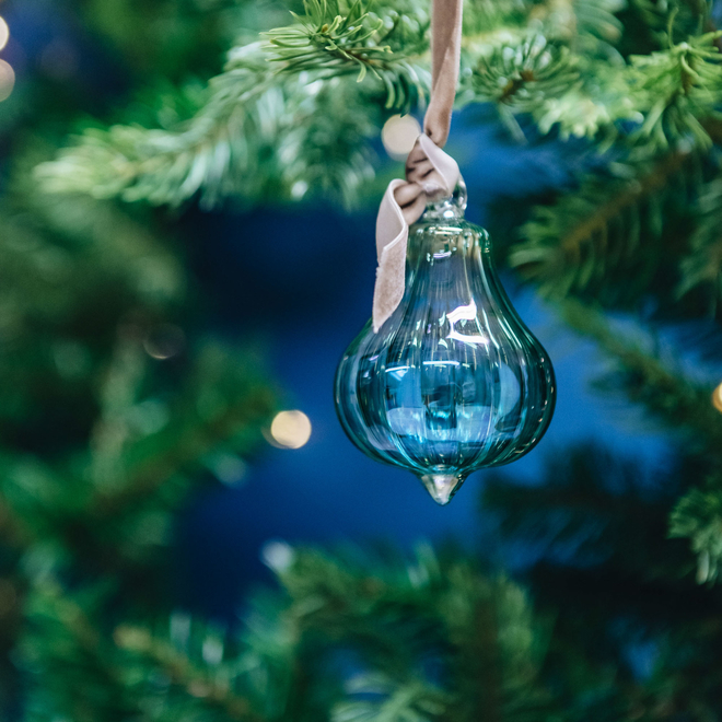 Fig Glass Baubles Green