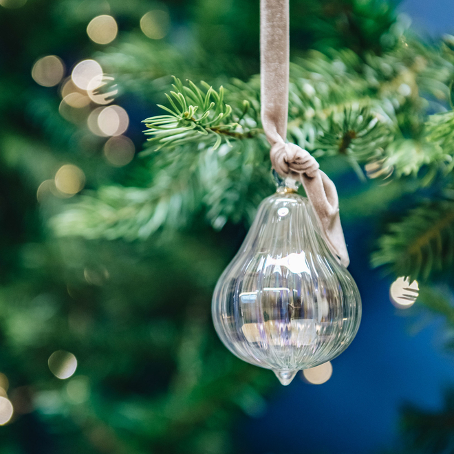 Fig Glass Baubles Pearl
