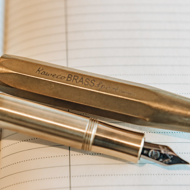 Kaweco Fountain Pen Brass Sport, detail of nib