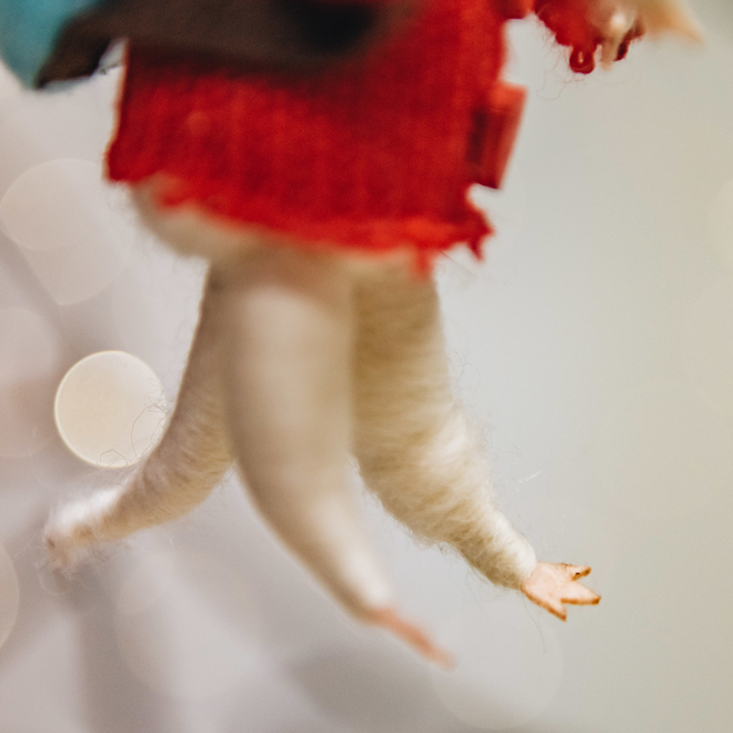 Rambling Mouse Christmas Tree Decoration (tail detail!)
