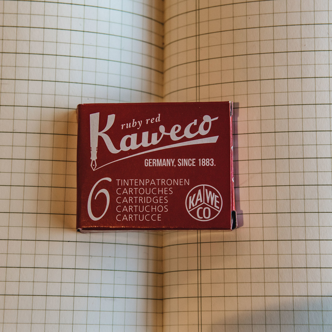 Kaweco Fountain Pen Cartridges - Ruby Red
