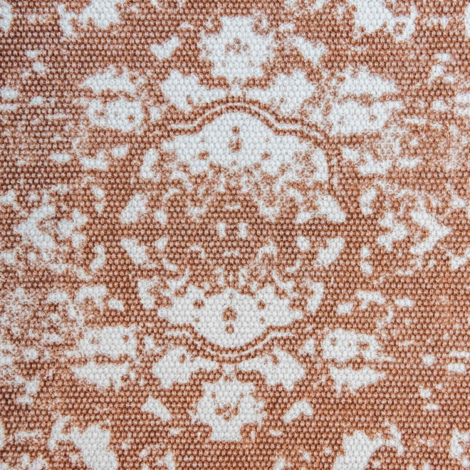 Bagru Terracotta fabric swatch