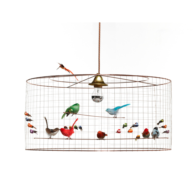 Mathieu Challières Half-Large Birdcage Ceiling Light