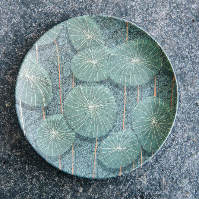 20cm Nymphaea Bamboo Plate