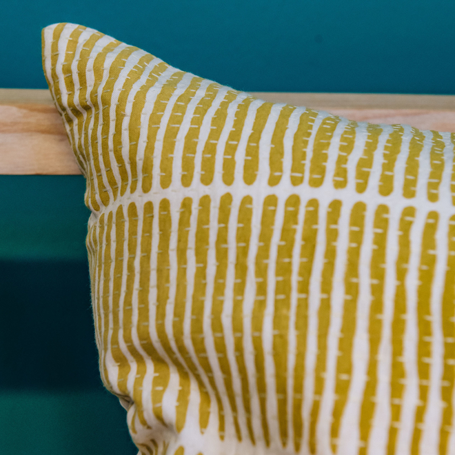 Lemongrass Cushion Yellow, detail
