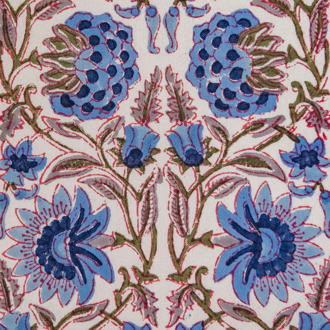 Deoli Topaz Cushion (detail of floral print)