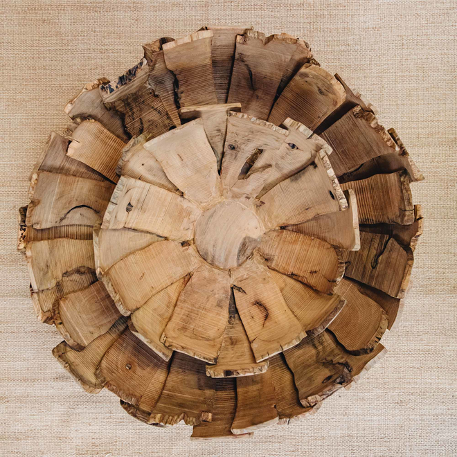 Driftwood Petal Bowls, one inside the other
