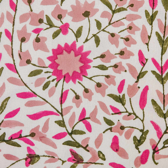 Kollam Blush Cushion (detail of floral print)