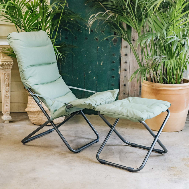 Sage Green Chico Soft Padded Stool with Fiesta Chair