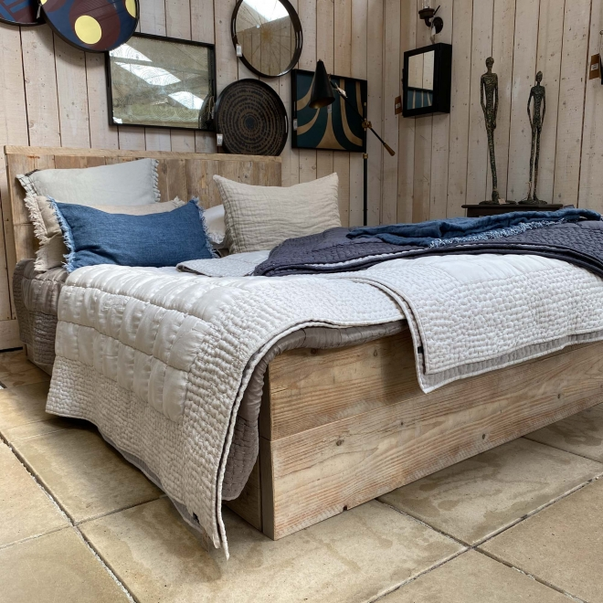 Raw Plank French Double Bed