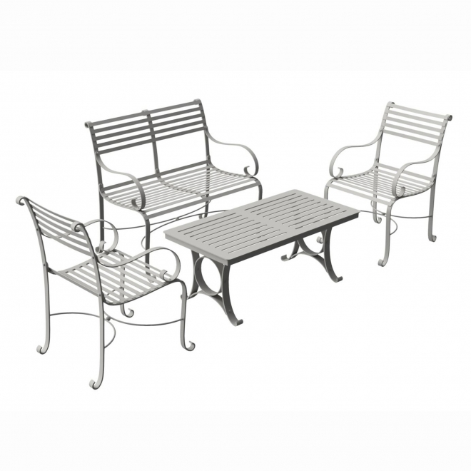 4-Seater Coffee Bench & Chair Set
