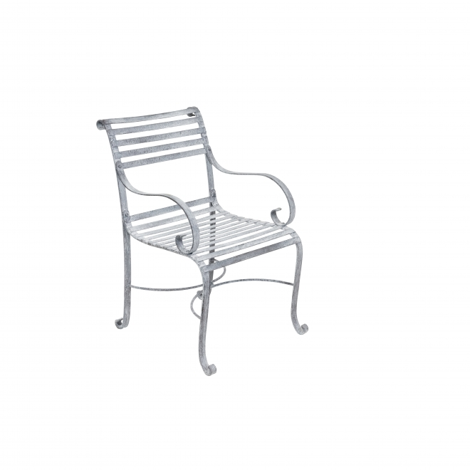 Antique Finish Garden Chair with Arms (six included in set)
