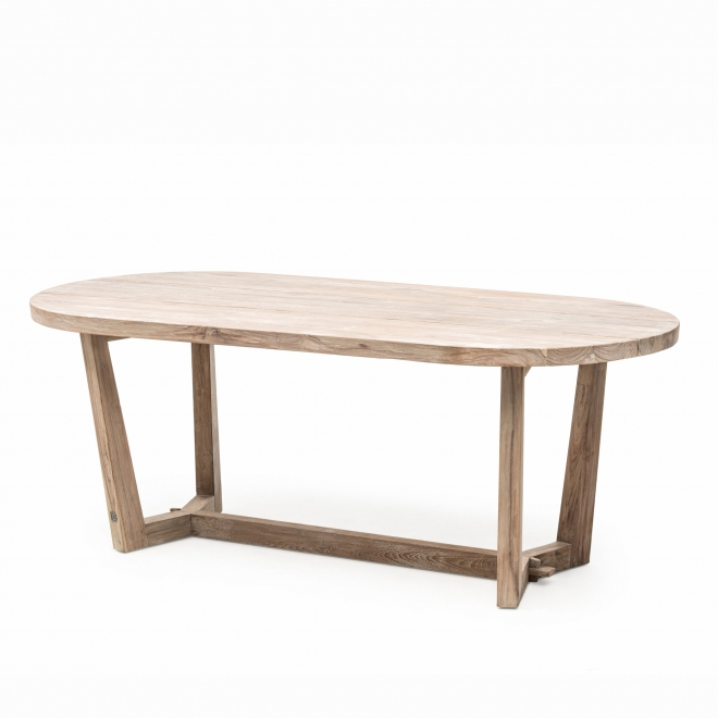 Dan Indoor/Outdoor Teak Oval Dining Table Small