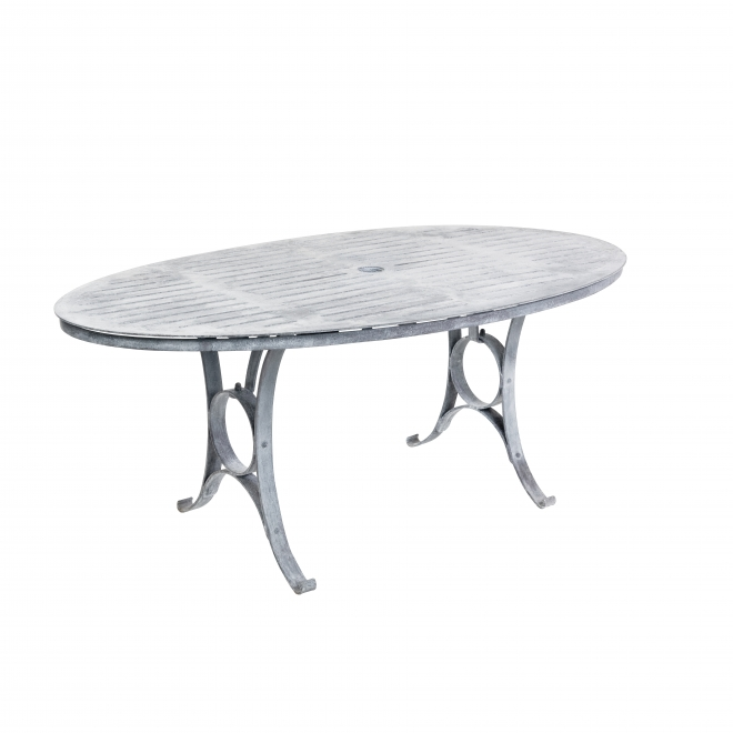 Antique Finish Oval Dining Table (1.8m size shown)