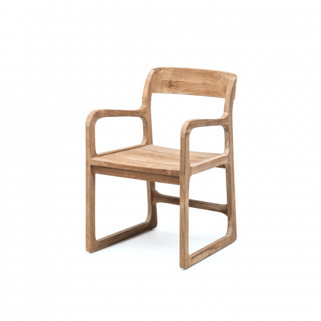 Sally Reclaimed Teak Garden Armchair without cushion