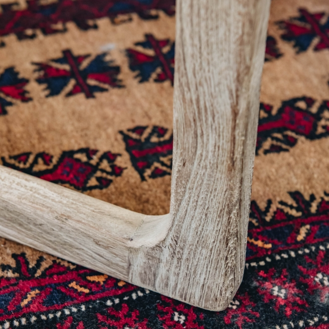 Sally Teak Armchair loer leg detail