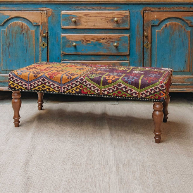 Kilim Bench (gold background)