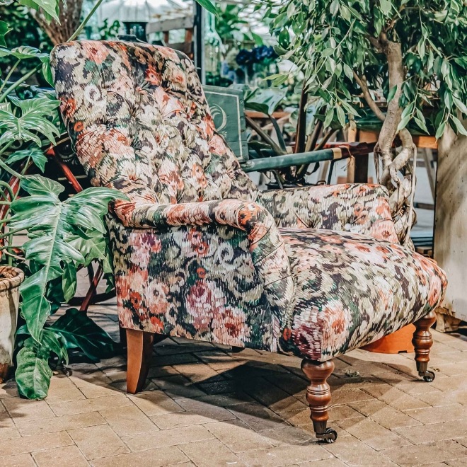Carnaby Armchair Amina Mulberry