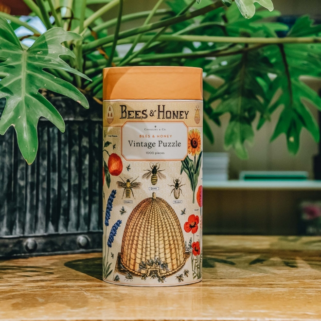 Vintage Jigsaw Puzzle, Bees and Honey