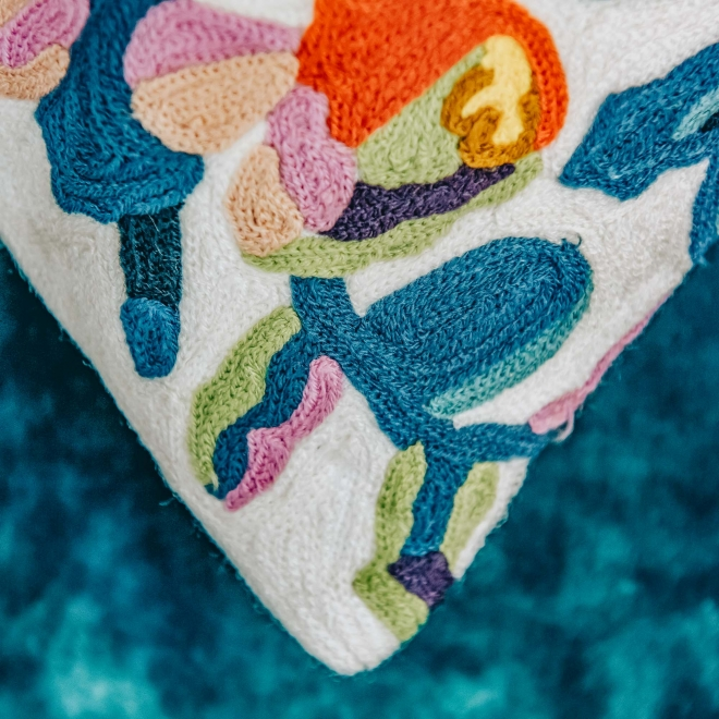 Daphne Embroidered Cushion Detail