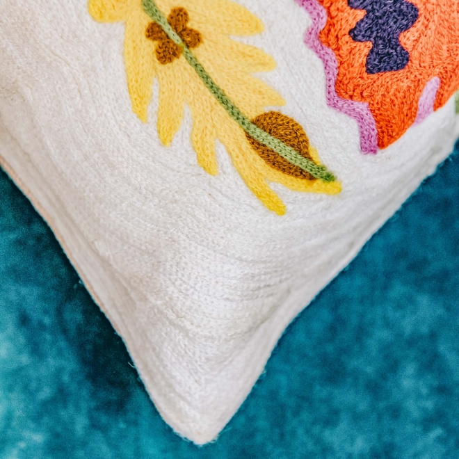 Daphne Embroidered Long Cushion Detail